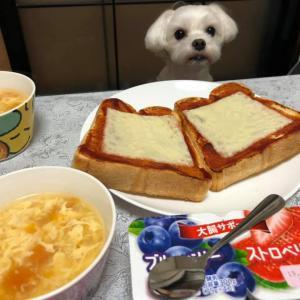 ピザトースト!洋食朝食!