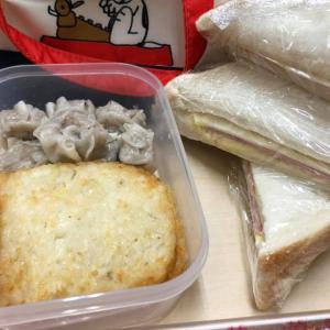 最近のマイブーム!ハムチーズサンド弁当!