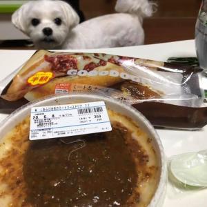 ローソンの「あらびき肉のミートソースドリア」と「ミートチーズ」