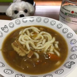レトルトスープのカレーうどん!