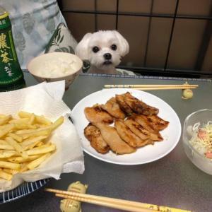 鶏むね肉の味噌焼きとポテト!
