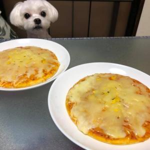朝食はピザ!