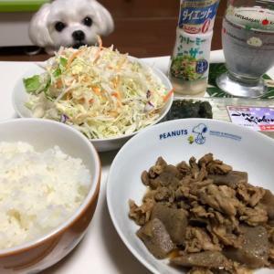 豚肉とこんにゃくの煮物!