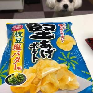 堅あげポテト「季節限定」枝豆塩バター!
