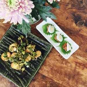 【おつまみ特集】エリンギのネギソースかけ&大根納豆ラビオリ