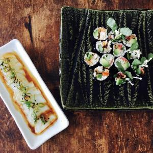 【ローフード和食】ロー寿司とアロエのお刺身