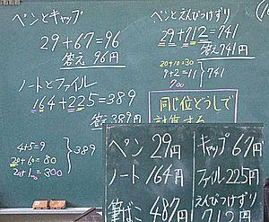 「足し算と引き算の筆算」導入