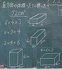 「立体の体積」導入