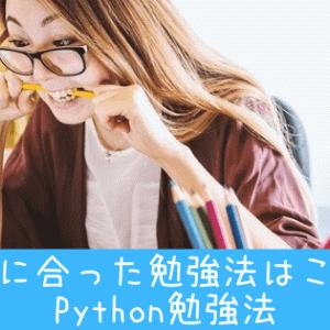 Python勉強法は?あなたに合った勉強法はこれだ!!
