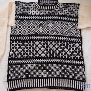 【knit 160】 編み込みセーター