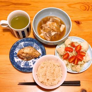 肉豆腐とサバの一夜干し〜ダイソーのマニキュア
