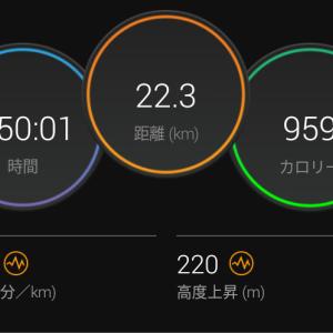 背中の痛み&110分間jog