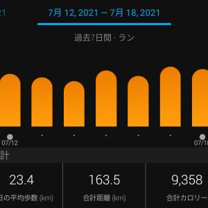 週間練習記録2021.7.12-7.18&金沢マラソンに当選