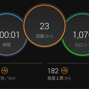 背中がバキバキ&120分間jog