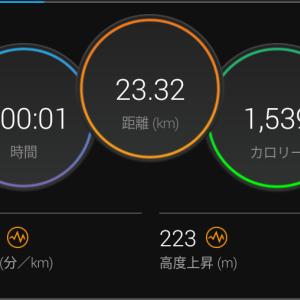 目標達成&へろへろ120分間jog