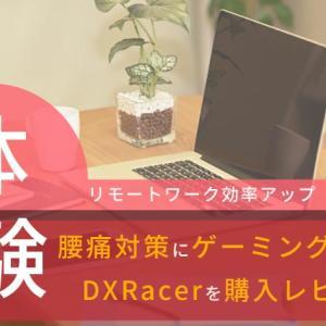 腰痛対策にゲーミングチェアDXRacerを購入。リモートワーク効率アップ
