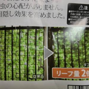 リーフが2倍になって量が増えてた!隣の家から目隠しするにはグリーンリーフラティスがおすすめ。目隠しフェンスは必需品ですね。