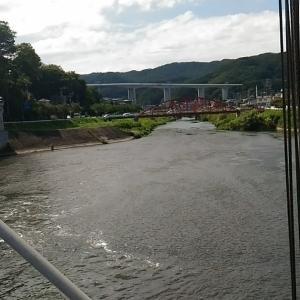 諏訪湖北の魚道(釜口水門)