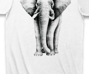 アフリカゾウのTシャツ【地味だけど着こなしやすい】