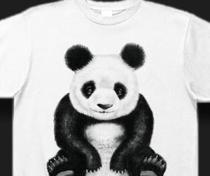ベタ座りがかわいい!パンダのリアルイラストTシャツを作りました。