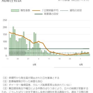 東京都の状況(その4)と全国の状況:新型コロナウイルス