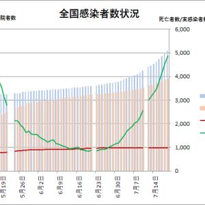 東京都の状況(その6):新型コロナウイルス