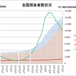 東京都の状況(その8):新型コロナウイルス=>謎の収束傾向