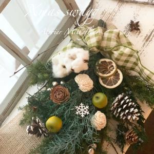 思い思いのクリスマス~一つとして同じものがないスワッグレッスン。今年は幾つ出来るかな
