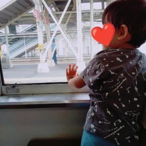 2歳息子、電車デビュー♡