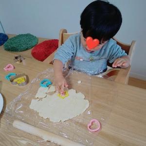 2歳息子とクッキー作り♡