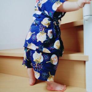 *階段上りと可愛い訪問者*