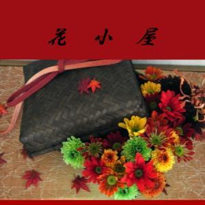菊で紅葉を表現Creemaのプロヒール写真より~
