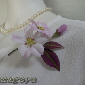 「再販」リアル!桜「衣笠」のコサージュCreemaに出品