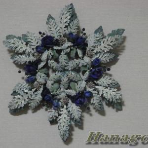 クリスマスインテリア~雪の結晶のリース