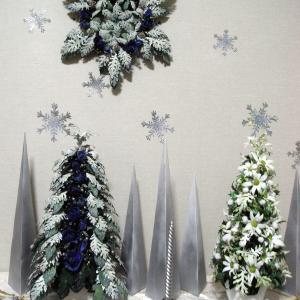クリスマスディスプレー「雪の降る聖夜」