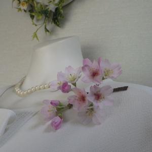 リアル桜!江戸彼岸桜のコサージュCreemaに出品