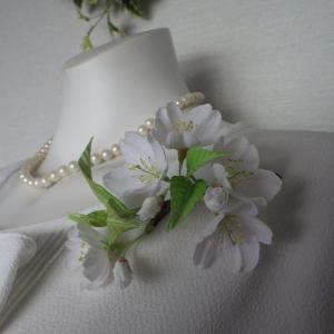 リアル桜!大島桜のコサージュCreemaに出品