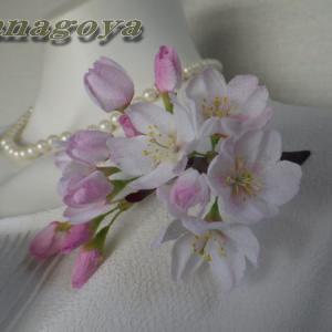 リアル桜!ソメイヨシノのコサージュCreemaにて速売