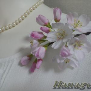 「再販」リアル桜!ソメイヨシノのコサージュ出品