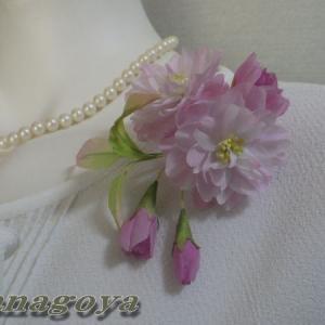 「再販」リアル桜!「関山」のコサージュCreemaに出品