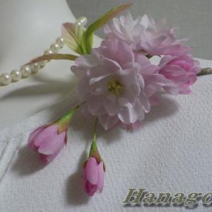 八重桜のコサージュ出品と著名人からコロナ肺炎死者