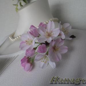 リアル桜!&リアル!ミモザのコサージュ出品