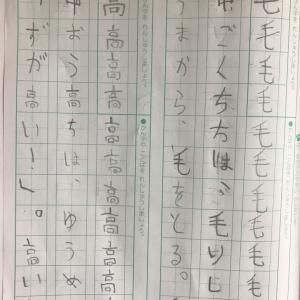 国語の宿題が楽しみ