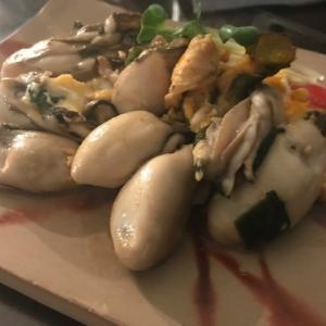美味しんぼの牡蠣オムレツとどて味噌コロと☆