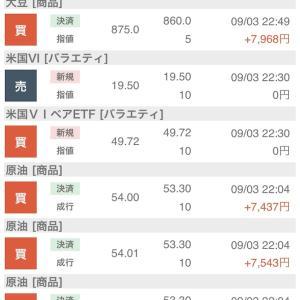 9月3日の結果+52,166円