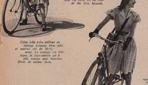 春の自転車ファッション マリークレール 1943年 その9 マギー・ルフ