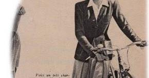 春の自転車ファッション マリークレール 1943年 その11