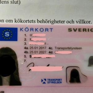 スウェーデンでの運転免許証書換