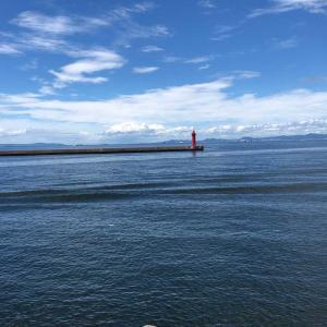 海を見に行ってました