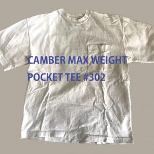 【レビュー】CAMBER MAX WEIGHT POCKET TEE #302
